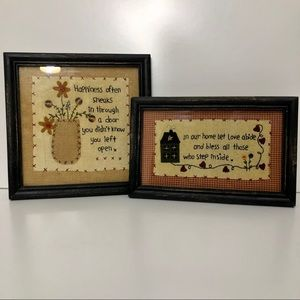 Farmhouse style rustic framed artwork